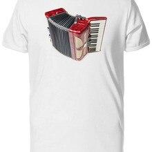 Camiseta para hombre elegante Vintage acordeón rojo-imagen por camiseta humorística