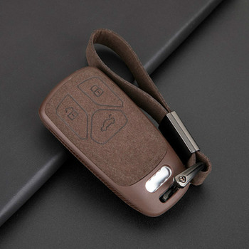 Leather TPU Car Key Cover Case For Audi A5 Q7 S4 S5 A4 B9 Q7 A4L 4m TT TTS RS 8S 2016 2017 2018 Smart Key Case
