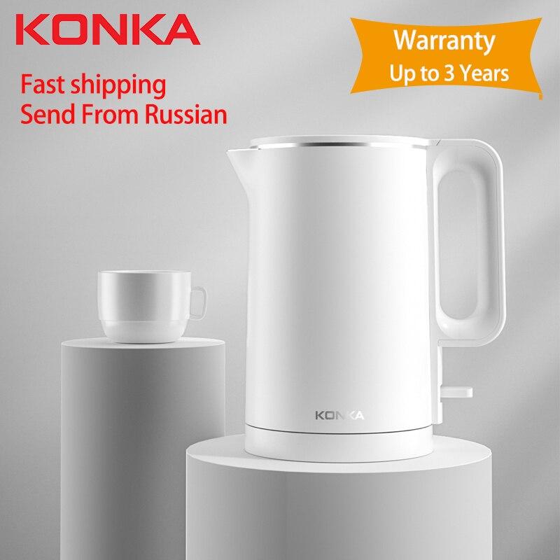 KONKA Elektrische wasserkocher schnelle kochendem 1,7 L haushalts edelstahl intelligente wasserkocher