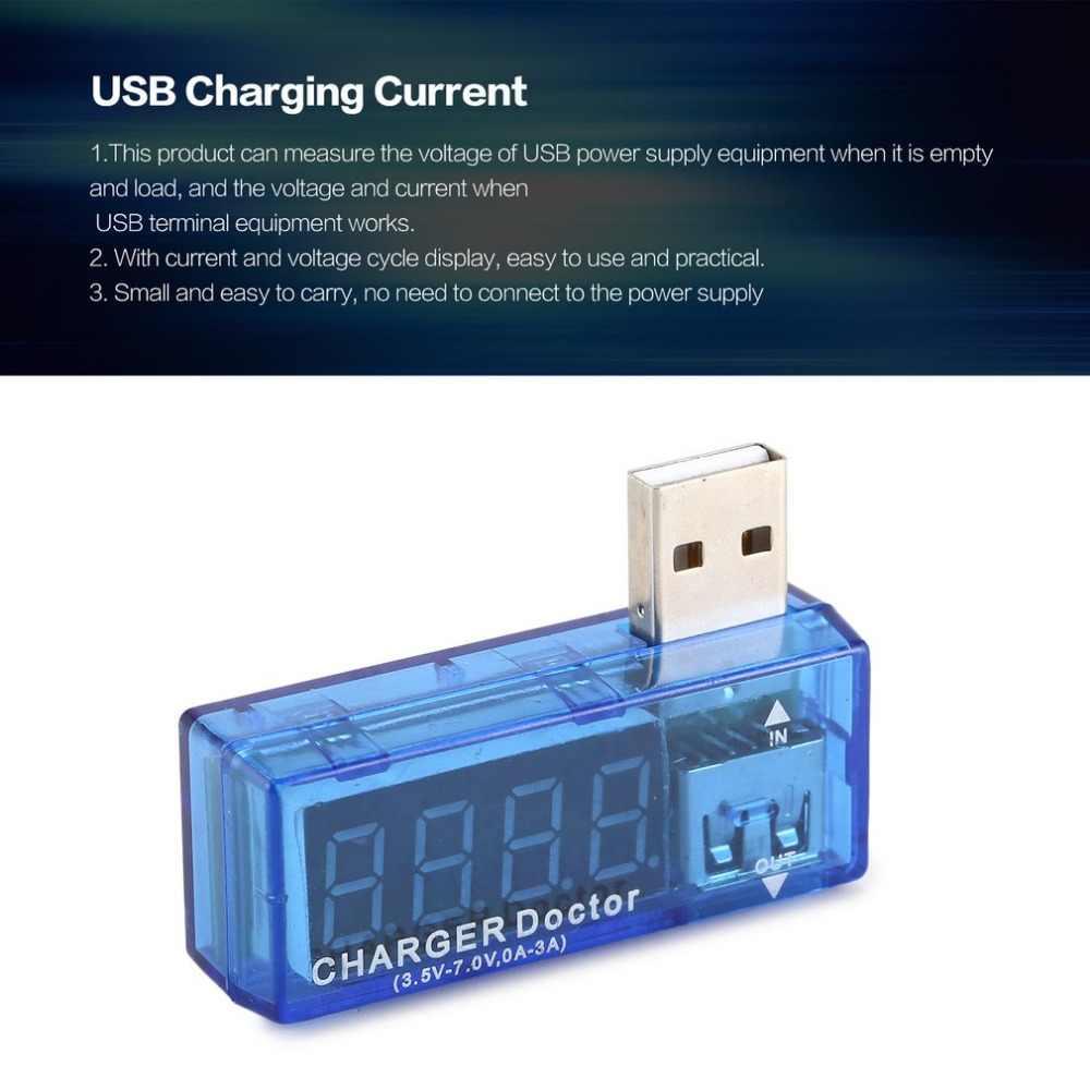 Usb 테스터 디지털 usb 앰프 전압계 전류 전압 테스터 감지기 lcd 화면이있는 모바일 전원 배터리 미터