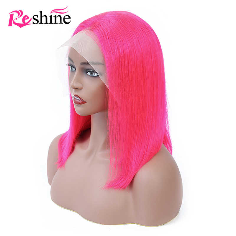 613 Blonde Wigs 13x4 Blue Lace Front Wigs Pink Brazilian Straight Colored Human Hair Wigs Preplucked With Baby Hair Remy Hair