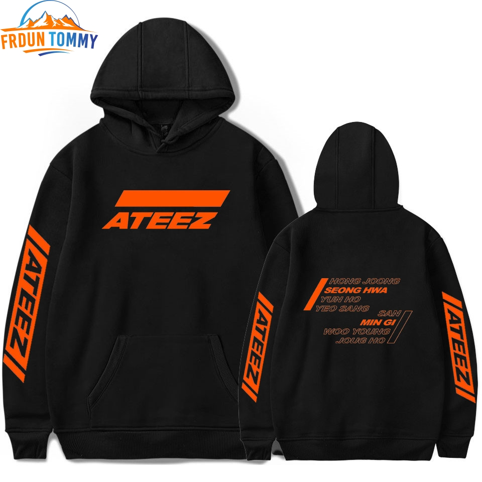 ATEEZ Print Hooded Women And Men Popular Clothes 2019 ATEEZ Sweatshirt Harajuku Casual Hot Sale Hooded Kpop Sweatshirt Plus Size