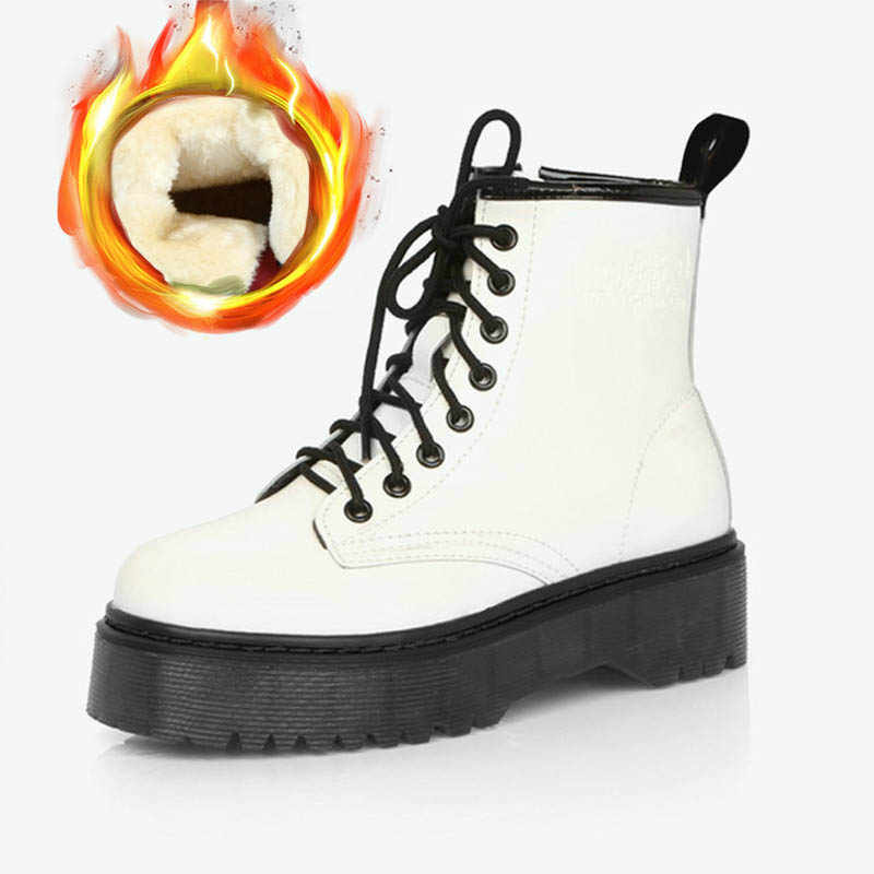 แฟชั่น Warm Plush Snow BOOTS ผู้หญิง PU รองเท้าหนังฤดูหนาวผู้หญิงลำลอง JASON Martins Botas Mujer ฤดูใบไม้ผลิหญิงข้อเท้ารองเท้า