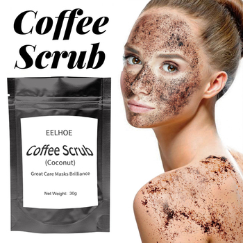 Coffee Scrub Coconut Scent Body Scrub Cream Facial Dead Sea Salt Cleansing For Exfoliating Whitening Moisturizing Anti Cellulite 1