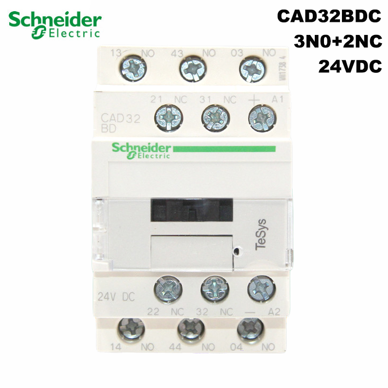 Schneider Electric CAD32BDC control relay TeSys 24VDC contact relay 3N0+2NC rail installation original export brand new