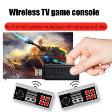 Mini telewizor konsoli do gier Retro 8 Bit konsola do gier gra wideo wbudowana 620 klasyczne gry konsoli do gier HD maszyna do portu USB tanie tanio POWKIDDY NONE CN (pochodzenie)