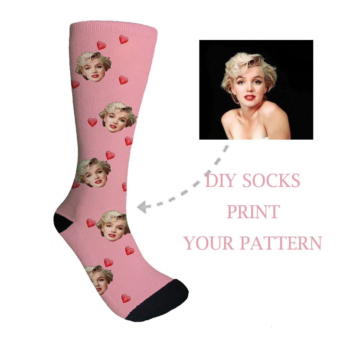 3D Diy Printed Personalized Custom Socks Women Long Socks Custom Men's Sport Socks Personalized Knee Socks Custom Gifts