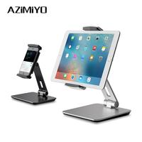 AZiMiYO Desktop Aluminum Alloy Tablet iPad stand Angle Adjustable Folding for Home Office iPad Holder 4 14inches Tablet