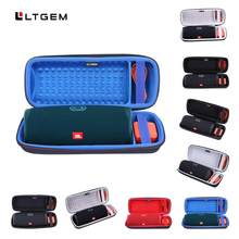 LTGEM Hard Travel Case for JBL Charge 4 Portable Waterproof Wireless Bluetooth Speaker - Black. Fits USB Cable and Charger(China)