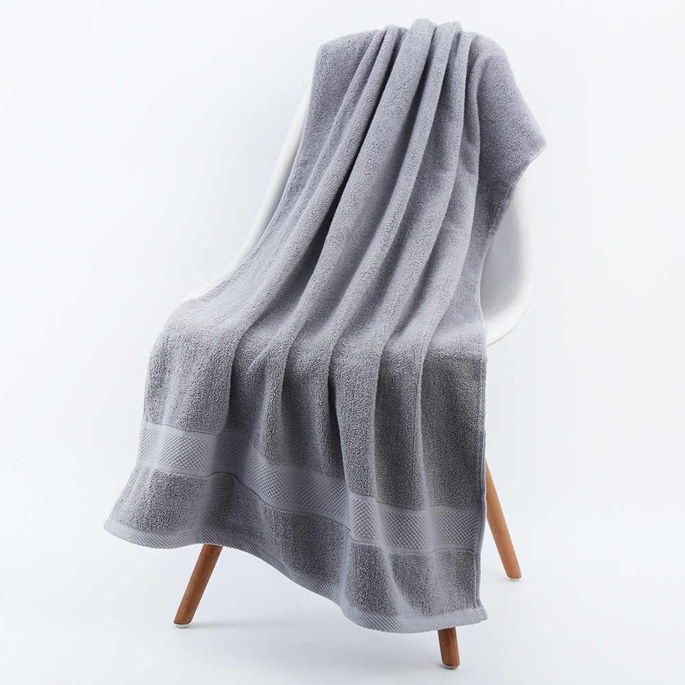70X140Cm Volwassen 100% Katoen Badhanddoek Sterke Wateropname Zachte Comfortabele Badkamer Gezicht Handdoek Sets 3 Kleuren solid Handdoeken