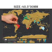 Scratch off Journal World Map Personalized Travel Atlas Poster with country Flags 42.3*30CM