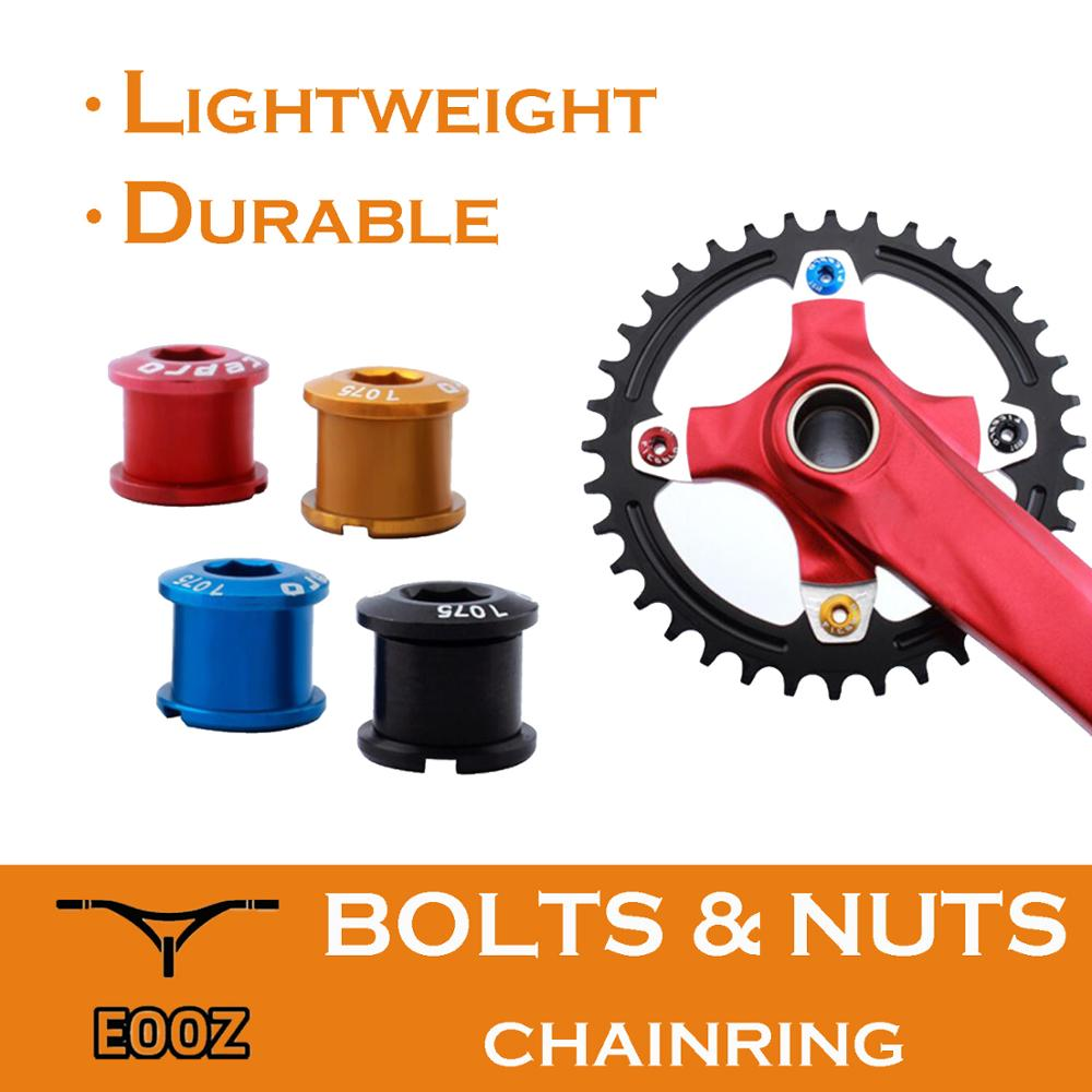 5PCS Bike Chainring Bolts and Nuts M20 Crankset Chainwheel Screw with Cap Cover Aluminium MTB <font><b>BMX</b></font> Road Bicycle Fitting image