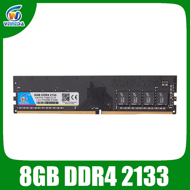 VEINEDA Dimm Ram DDR4 4 гб 8 гб 1,2 в PC4-17000 память Ram ddr 4 2133 для Intel AMD DeskPC Mobo ddr4 4 гб 284pin