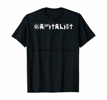 Zwart Kapitalistisch Conservatieve Belegger Economics Anti Socialistische T-shirt