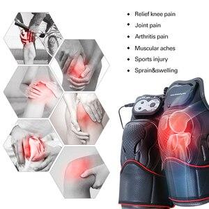 Image 3 - 2 قطعة/زوج الكهربائية الركبة المشتركة هدفين الكهربائية الساق التدفئة العلاج الطبيعي دعم Kneecap الساخن ضغط العلاج تدليك التهاب المفاصل