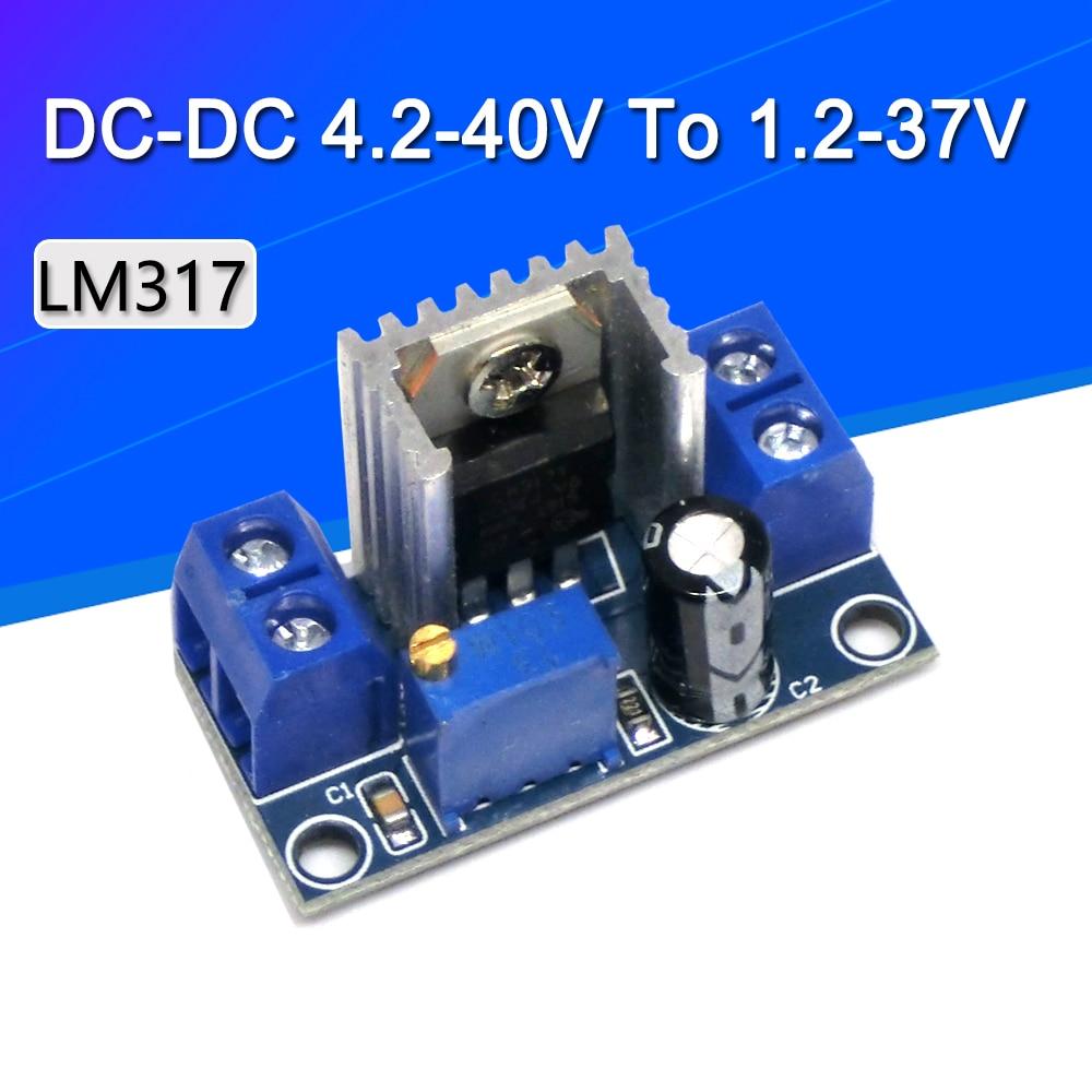 LM317 регулируемый линейный регулятор напряжения питания LM317 DC DC 4,2 40 В до 1,2 37 в понижающий модуль преобразователя Регуляторы напряж./стабилизаторы      АлиЭкспресс