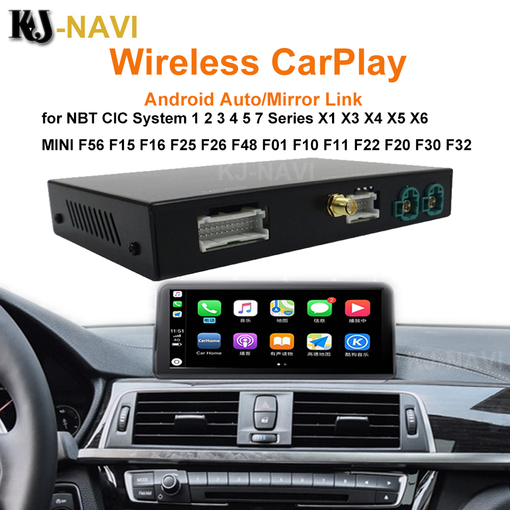 CarPlay Android Sistema Decodificador Auto para BMW CIC NBT 1 2 3 4 5 7 Série X1 X3 X4 X5 X6 MINI F56 F15 F25 F26 F48 F01 F10 F11