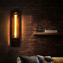 Glorystar Лофт винтажный настенный светильник черный ретро потолочный