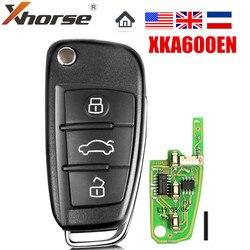 1 pièces XHORSE XKA600EN VVDI2 pour Audi A6L Q7 Type clé à distance universelle 3 boutons