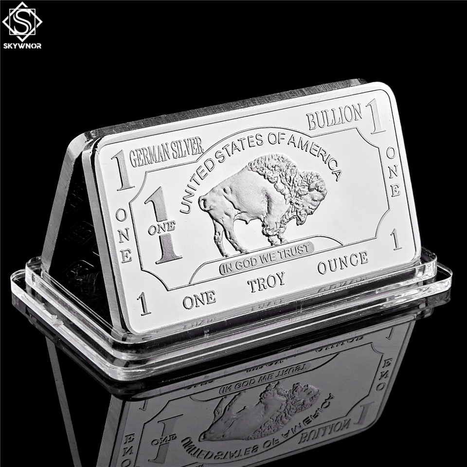 German Mint 1 Troy Ounce Buffalo German Silver Bullion Bar Replica Coins Collection|Non-currency Coins|   - AliExpress