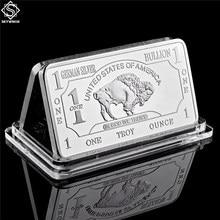 Alemão Mint 1 Onça Troy Buffalo Alemão Prata Bullion Bar Moedas Réplica Coleção