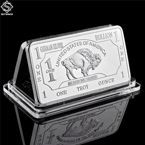 German Mint 1 Troy Ounce Buffalo German Silver Bullion Bar Replica Coins Collection(China)
