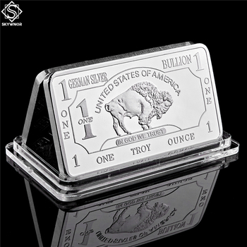German Mint 1 Troy Ounce Buffalo Silver Bullion Bar Replica Coins Collection