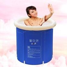 цена на Bucket Tub Sauna Portable Plastic Bathtub Barrel Bath Tub Adults Folding Bathtub SPA Massage Bathtub Children Bath Barrel