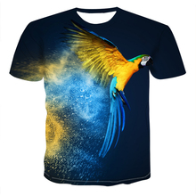 2020 new Summer  T-shirt Men Streetwear Round Neck Short Sleeve Tees interesting lovely Animal Male Clothes Casual 3D Print