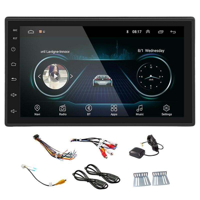 Nouveau noir 2DIN Android voiture multimédia Radio de MP5-Player GPS Navi WIFI Radio 2 Din 7 pouces écran de presse Bluetooth FM Audio voiture Ster