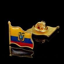 Bandera de Perú que agita el sombrero chapado en oro epoxi, bolsa, broche de Pin de solapa, al por mayor, orgullo, hecho en China