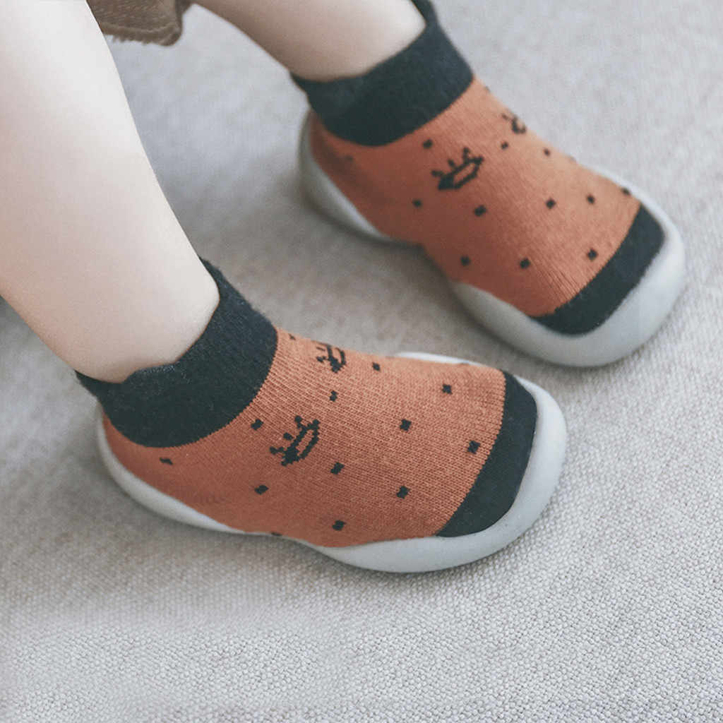 Kids Shoes Toddler Baby Boys Girls Cartoon Anti-slip Knitted Warm Soft Socks Girls Flat Baby Sneakers Tenis Infantil Zapatos