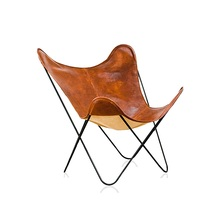 2 stücke PACK  Italien Design Schmetterling Lounge Stuhl/Leder oder Baumwolle Leinen Polster