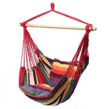 Portable Hammock Chair Hanging Rope Chair Swing Seat  for Garden Indoor Outdoor Spaces Fashionable Hammock Swings