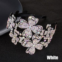 Padded Headbands Sponge Rhinestone Crystal Diamond Women for Girls