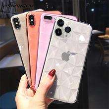 3D Diamond Texture Silicone Case for iPhone