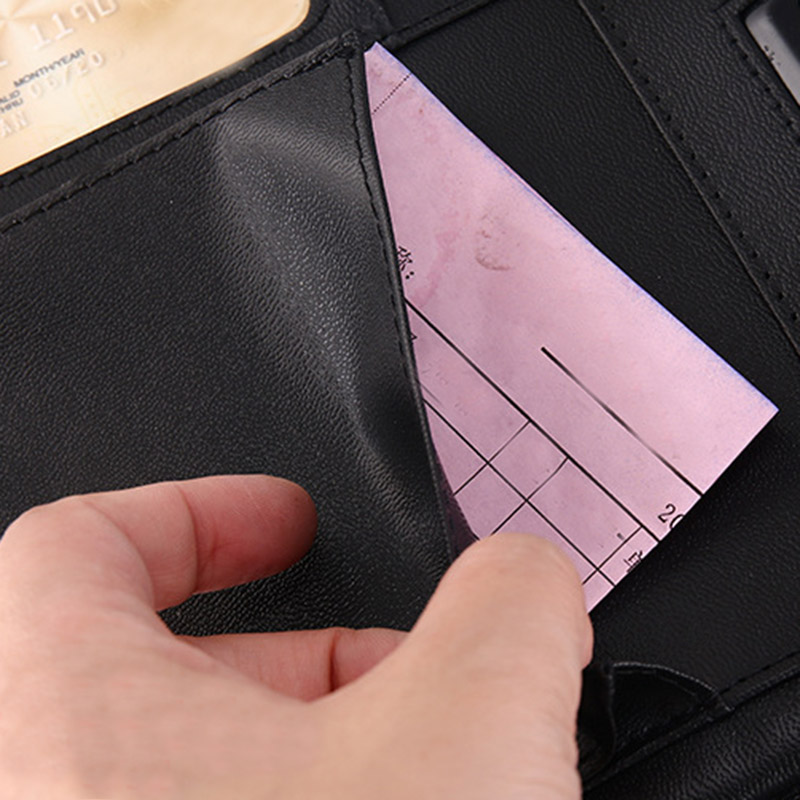 A4 Multifunctional Folder PU Leather Zipper Bag For Notebook Business Travel OD889