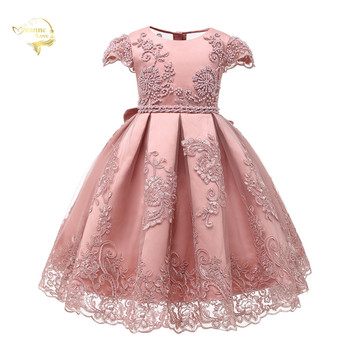 2020 New Flower Girl Dresses Pearls Ball Gowns Lace Appliques Princess Kids Pageant Gowns For Weddings First Communion Dresses 2018 new lovely princess baby girl flower girls dresses sheer lace crew neck appliques formal girl s pageant dresses