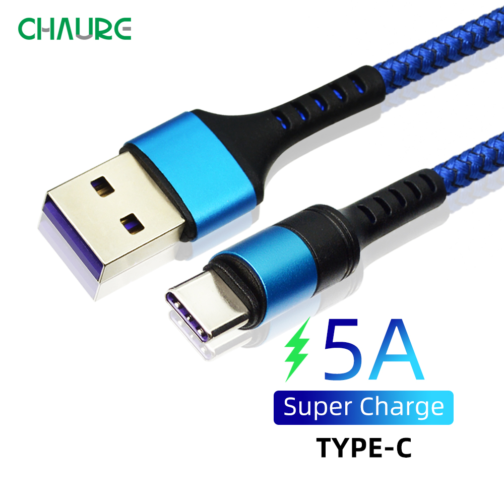 CHAURE USB Type C Cable 5a For huawei Xiaomi Mobile Phone Cables Fast Charging Data Sync type c cable Fast Charge cable 1m 2m Mobile Phone Cables     - AliExpress