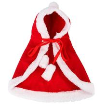 Hot Lovely Pet Dog Cat Red Hooded Shawl Cute Lamb Velvet Clothes Christmas New Year Cloak Costume Pet Puppy Dressing Accessories cute deer patterned christmas new year socks for pet cat dog white red size m 4 pcs