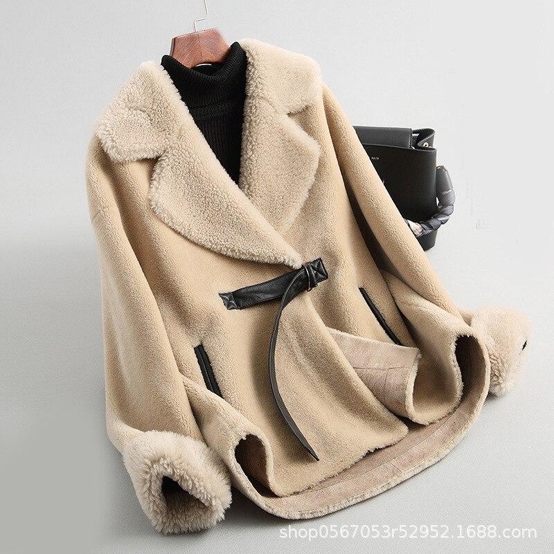 Wool Jacket Autumn Winter Coat Women Clothes 2020 Streetwear Real Fur Coat Korean Vintage Sheep Shearling Abrigo Mujer ZT3325