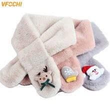 Vfochi 2020 шарф для мальчика девочки зимний плюшевый толстый