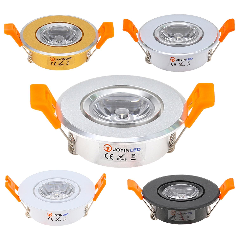 Aluminum 110V 220V LED Mini Ceiling LED Spot Light Lamp Dimmable Led Downlight Cabinet Recessed Spot Light 3W Including Drive