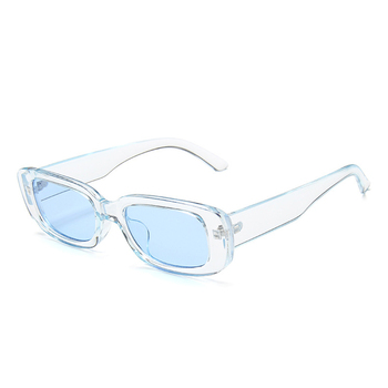 DAVE klasyczne okulary w stylu Retro kobiety marka projekt Vintage prostokąt okulary kobieta przezroczystą niebieską różową zieloną soczewkę okulary UV400 tanie i dobre opinie WOMEN Rectangle Dla dorosłych Z tworzywa sztucznego 33mm Poliwęglan Sunglasses Women 50mm