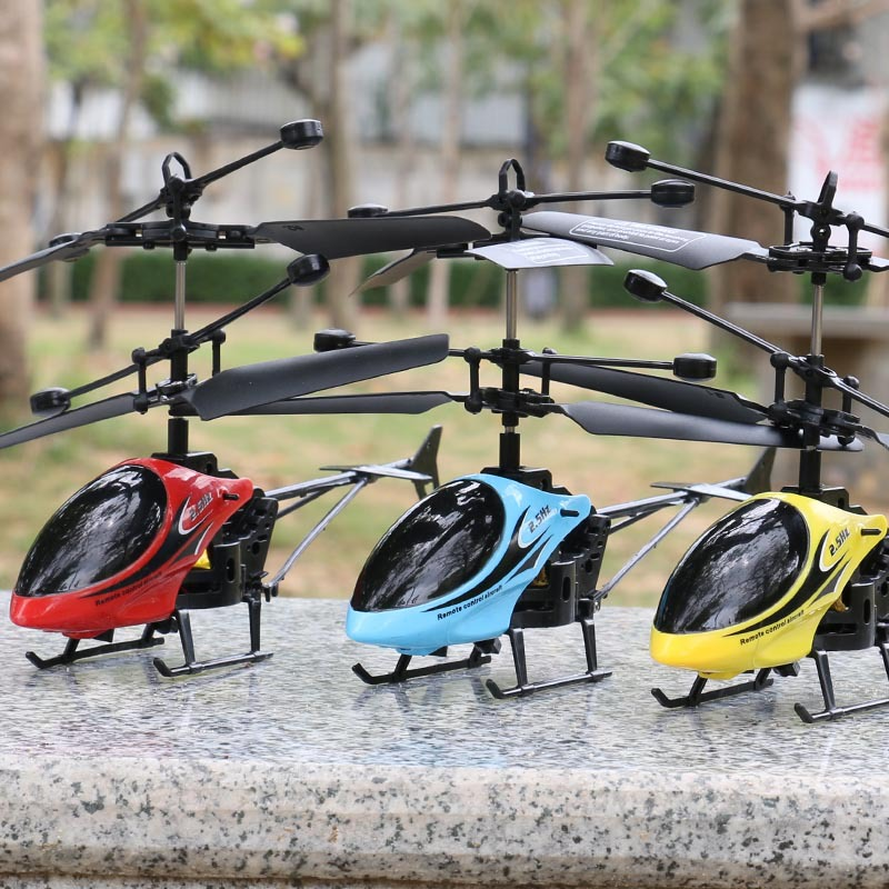 Remote Control Children Helicopter Charging Airplane Adult Helicopter Airplane Drop-resistant Remote Control Children UAV Toy Mo