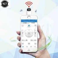 Mando a distancia Universal para teléfono inteligente, miniadaptador para dispositivos Micro USB tipo C OTG, inalámbrico remoto IR