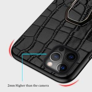 Image 5 - 정품 가죽 전화 케이스 애플 아이폰 12 프로 맥스 12 미니 11 프로 맥스 X XS 맥스 XR 6 6s 7 8 플러스 5 5S SE 2020 마그네틱 커버