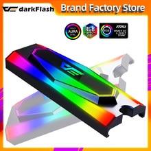 Darkflash-disipador de calor de disco duro M.2 ssd de aluminio, radiador de refrigeración de silicona, almohadillas térmicas, enfriador pasivo de disipación de calor M2 NGFF 2280