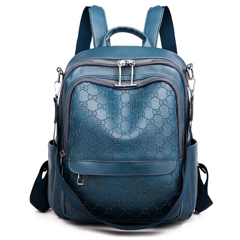 Fashion 2020 Schoolbag Rucksacks Korean-style Wild Fashion Bags Soft PU Leather Backpacks Back Pack Women Backpack Female