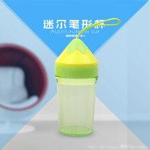 Pen-shaped cup childrens plastic 250ml mini leak-proof strap sling